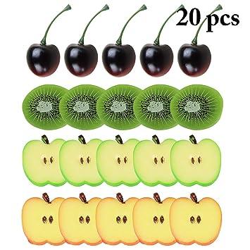 JUSTDOLIFE Artificial Watermelon Lifelike Slices Fake Fruits Decorative Fruits Kids Toy