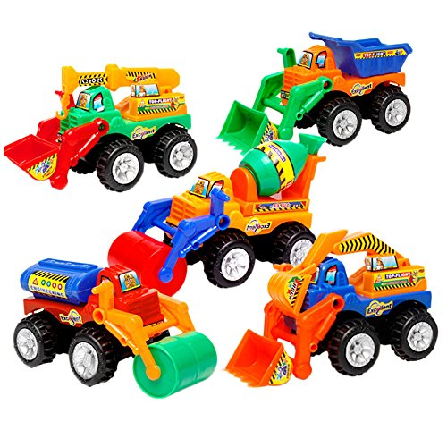 学習教育玩具 建設車 トラック 車モデル - 掘削機 ダンプトラックキット 子供用 幼児 子供用 ミニエンジニアリング玩具 パーティーの記念品 誕生日ギフト 3歳以上の商品画像