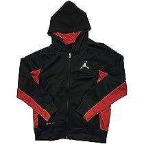 1040d4b5a3f193 Amazon.com  Jordan Air Big Boys Therma-Fit Hoodie Black Red Size ...