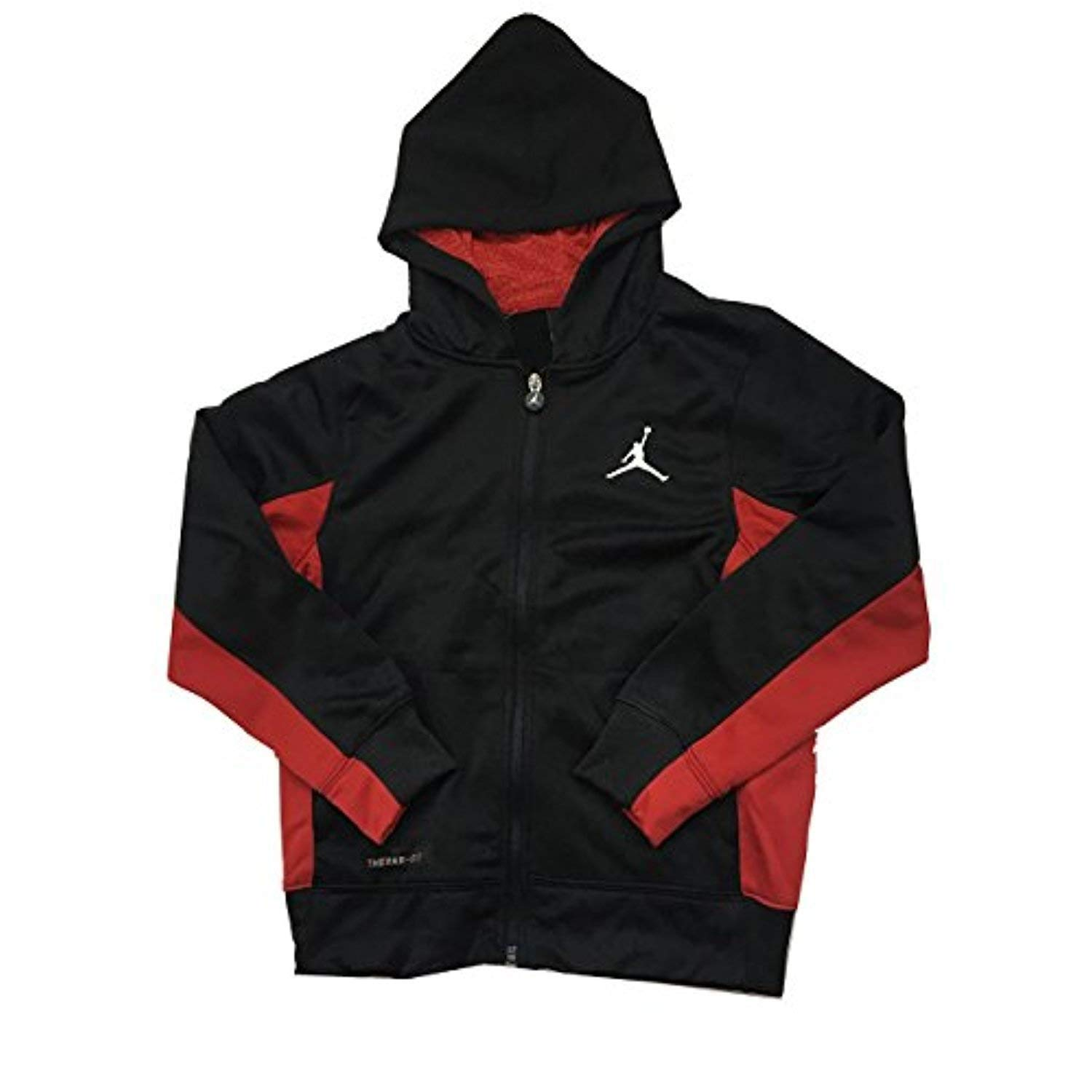 Air Jordan Big Boys Therma-Fit Hoodie Black/Red Size Medium (10-12 Years)
