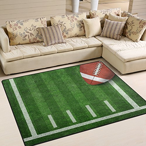 ALAZA American Football with Yard Line on Field