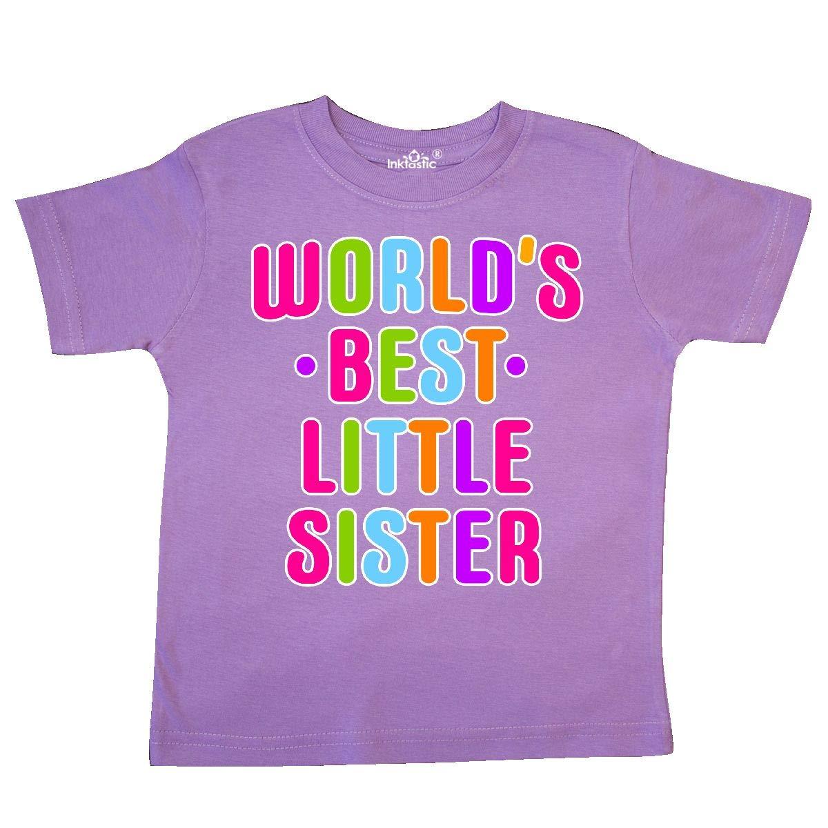 inktastic Worlds Best Little Sister Toddler T-Shirt