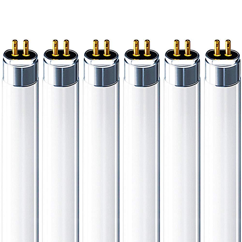 Luxrite F54T5/841/HO 54W 46 Inch T5 Fluorescent Tube Light Bulb, 4100K Cool White, 4200 Lumens, G5 Mini Bi-Pin Base, LR20770, 6-Pack