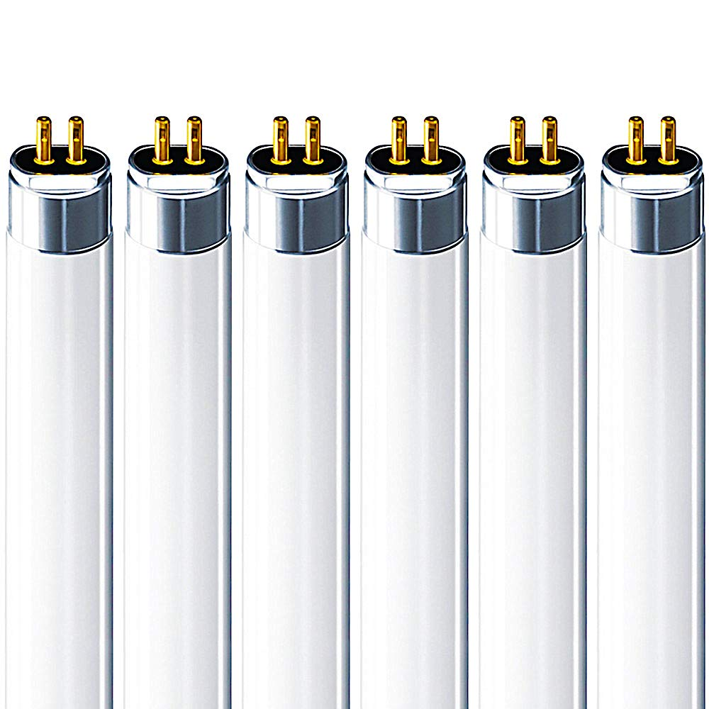 Luxrite F28T5/841 28W 46 Inch T5 Fluorescent Tube Light Bulb, 4100K Cool White, 2470 Lumens, G5 Mini Bi-Pin Base, LR20800, 6-Pack