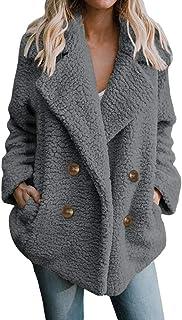 Faux Ladies Coat Fashion Jacket Jacket Warm Loose Teddy Parka Elegant Luxury Faux Faux Faux Overcoat Casual Winter Coat Overcoat
