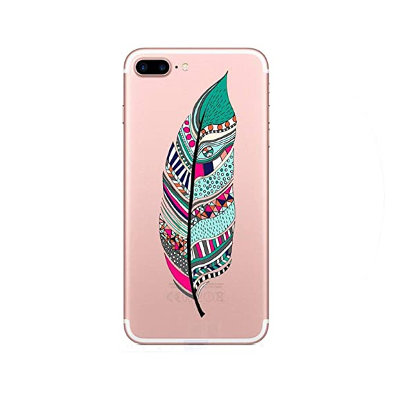 Amazon.com: Fashion Colorful Feather Phone Case for iPhone 6 ...