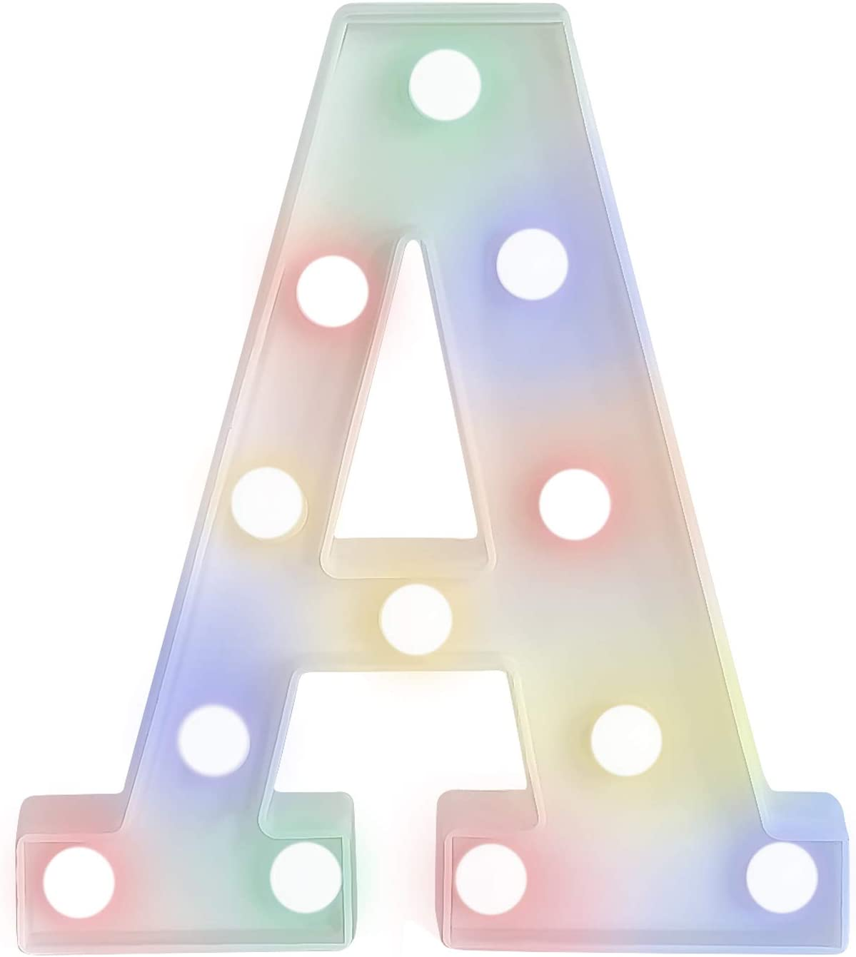 ZRO LED Letter Lights 16 Colors-Changing, 3D Night Lamp 26 Alphabet A-Z LED Marquee Sign with Remote Control for New Year Eve Valentine's Day Home Decor Birthday Party Wedding Bedroom Wall Decor (A)