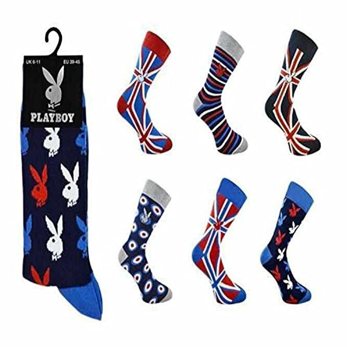 3 pares de calcetines de algodón para hombre, marca Playboy, calcetines clásicos, talla 39-45 Negro Play Boy Socks-1620 39-46: Amazon.es: Ropa y accesorios