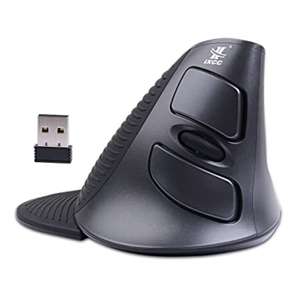 b66b86e5410 Wireless Vertical Mouse, iXCC 2.4G 6-Button Ergonomic Mouse Reduces Wrist &  Hand