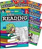 img - for 180 Days of Reading for K-6, Set of 7 Assorted Reading Workbooks, One Per Grade Level for Kindergarten through Sixth Grade (180 Days of Practice) book / textbook / text book