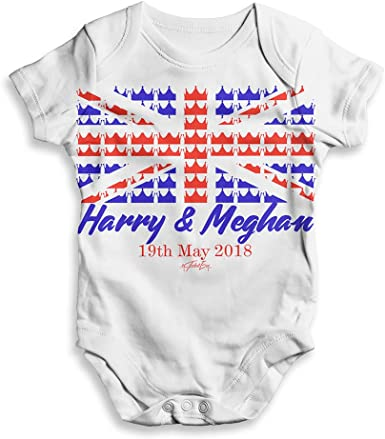 Royal Wedding May 2018 Harry /& Megan Unisex ALL-OVER PRINT Baby Grow Bodysuit