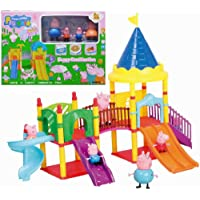 Simplifiers Peppa Pig Peppa's Family Outdoor Fun Slide Playground Playset (Set of 4 Figures)