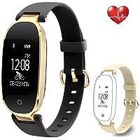 Rayfit Pulsera Actividad Reloj Inteligente Mujer Monitor de Ritmo Cardíaco Fitness Tracker Contador de Calorías Pasos Monitor de…
