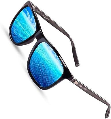 Sunmeet Gafas de sol Hombre Polarizadas Clásico Retro Gafas de sol ...