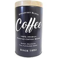 Lata metal Expresso Round Coffee Beans preto 12,8x9.9cm Urban