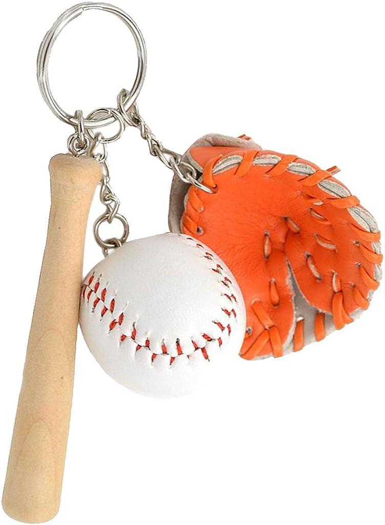BR Ball und Handschuh Set mit Schläger Top Baseball Schlüsselanhänger