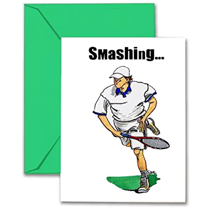 Amazon tennis birthday card 5x7 play strong sports birthday tennis birthday card 5x7 play strong sports birthday greeting cards awesome for players m4hsunfo
