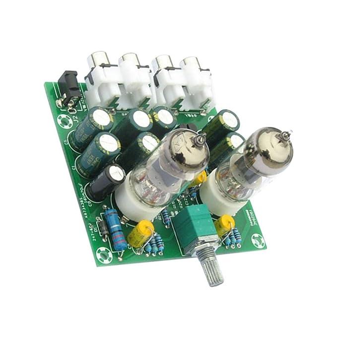 Rokoo Aoshike 6J1 válvula de tubo de preamplificador Bile Buffer DIY Kit Pre-amplificador de amplificador de la placa de auriculares Amp Preamplificador: ...