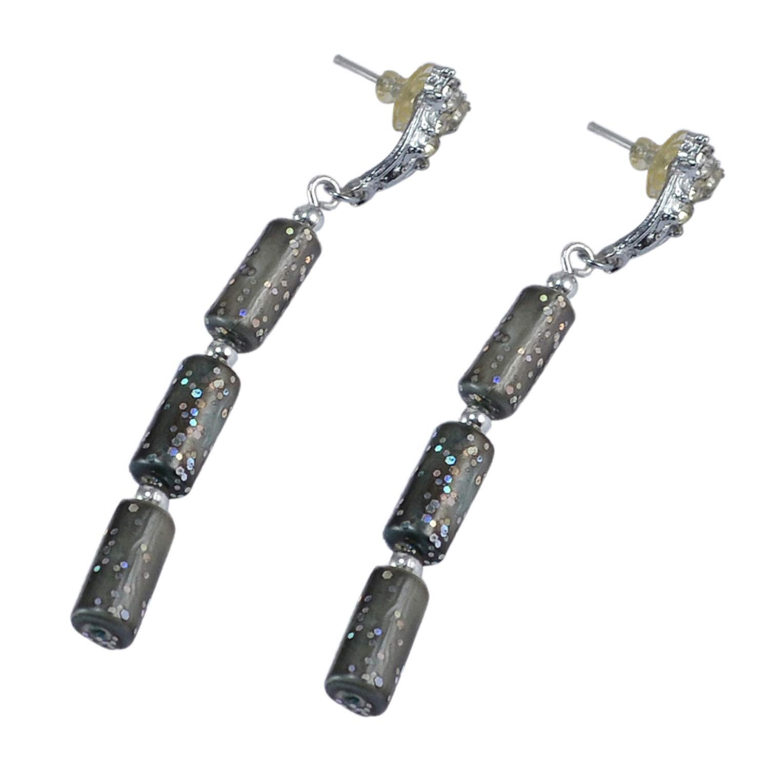 Saamarth Impex Cubic Zircon 925 Silver Plated Dangle Earring For Women /& Girls PG-126510