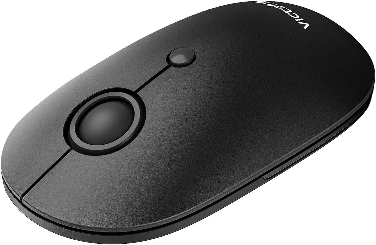 VicTsing Silent Wireless Mouse, Mouse for Laptop 2.4G with USB Nano Receiver, Portable Computer Mice 5 Adjustable DPI for Chromebook, Notebook, PC, Laptop, Computer, MacBook – Black