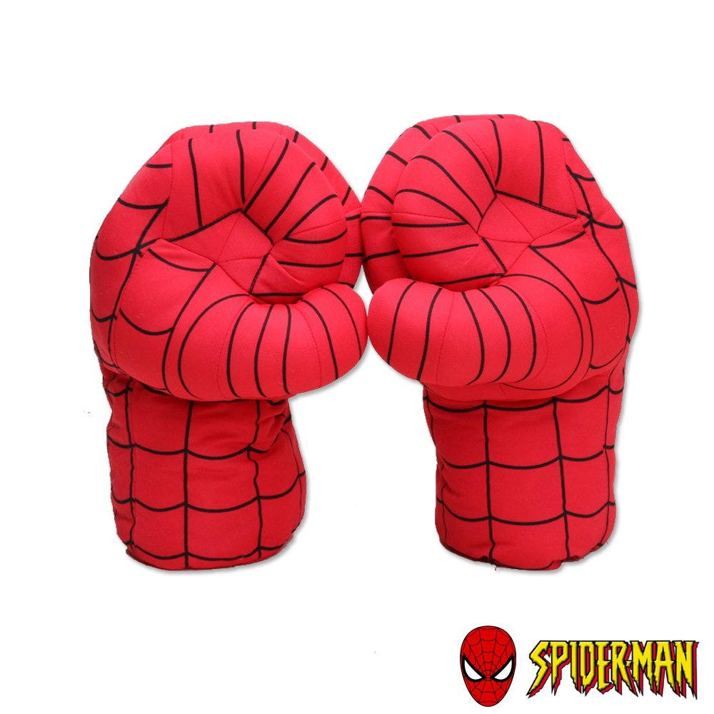 Spiderman Superhero Toys Plush Boxing Gloves Smash Hands Super Power Avengers Performing Props Time Sino Cool Fire