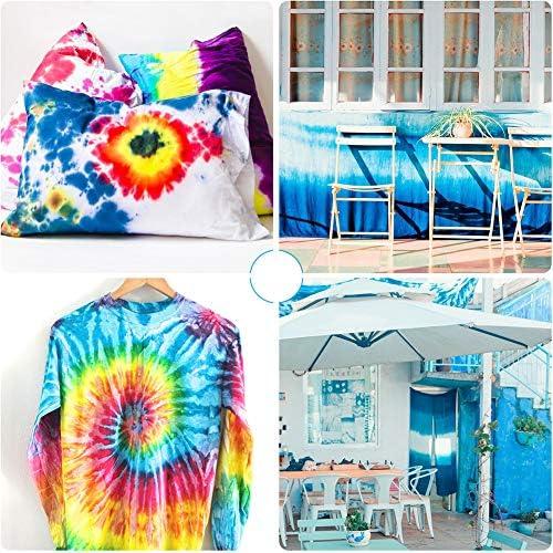 Kit de 12 colores de un solo paso de tinte para niños y adultos, polvo de tinte para manualidades textil, camiseta, tela, zapatos, ropa, pintura, ...