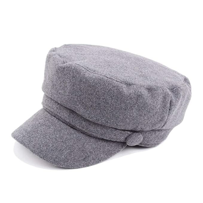 ANDERDM 2019 Flat Hat Woolen Feel Newsboy Hats for Women Men Cap Army Sailor Newsboy Caps Gorras Mujer Dark Gray at Amazon Womens Clothing store: