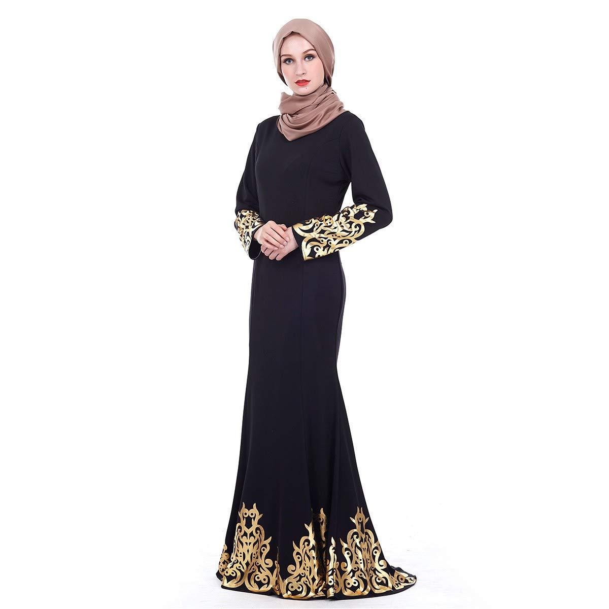 RISTHY Vestido Abaya Musulmana Vestidos Bordado Mujeres Largos Musulmán Maxi Vestidos Dubai Turquia Islámica Árabe Kaftan Dubai Batas para Las Mujeres ...