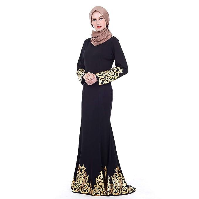 699689b17 RISTHY Vestido Abaya Musulmana Vestidos Bordado Mujeres Largos Musulmán  Maxi Vestidos Dubai Turquia Islámica Árabe Kaftan Dubai Batas para Las  Mujeres ...
