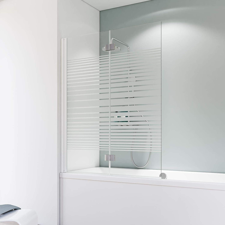 Schulte A796 04 72 Komfort - Mampara para bañera, color blanco: Amazon.es: Bricolaje y herramientas