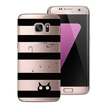 Yokata Funda Samsung Galaxy S7 Edge Carcasa Transparente ...