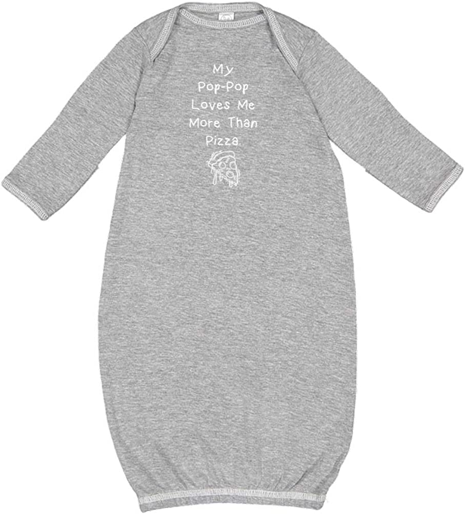 Baby Cotton Sleeper Gown My Pop-Pop Loves Me More Than Pizza