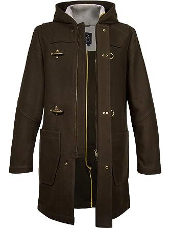 Musterbrand Core Abrigo Hombre Wanderer Two Dufflecoat Jacket Wool Winter Hooded Marrón XS: Amazon.es: Ropa y accesorios