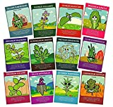 Non-GMO Herb Seed Set (12 Varieties) - Thyme, Chives, Cilantro, Summer Savory, Sage, Dill Bouquet, Garlic Chives, Italian Parsley, Mustard, Oregano, Sweet Marjoram, Sweet Basil