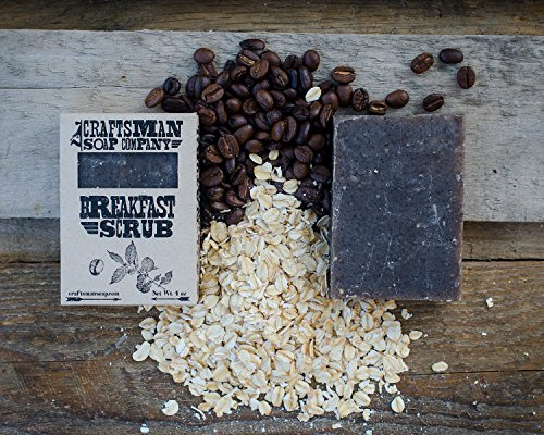 Breakfast Scrub. Coffee  Oatmeal Bar Soap. 100% All-Natural Handmade.
