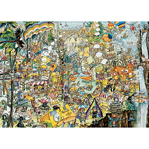 Bits and Pieces - 3000 Piece Jigsaw Puzzle for Adults - Crazy BBQ - 3000 pc Festival Scene Jigsaw by Artist Gerold Como ()