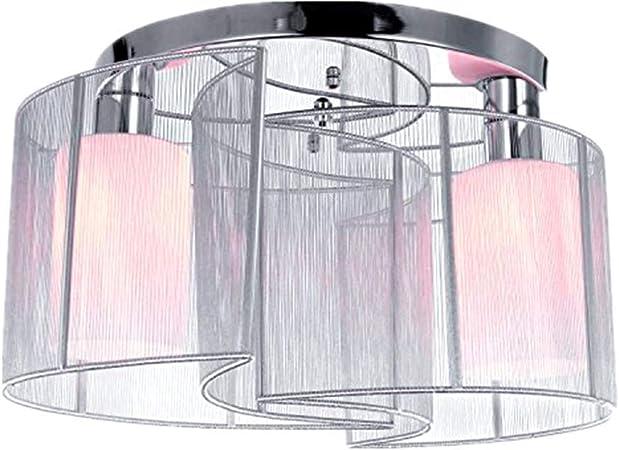 Csdm Ai Suspension Luminaire Modernes De Modele De Bati D Eclairage De Plafond De Tissu Avec 2 Lumieres Lustre En Cristal De Tissu Brosse Blanc 220ve27 Amazon Fr Cuisine Maison