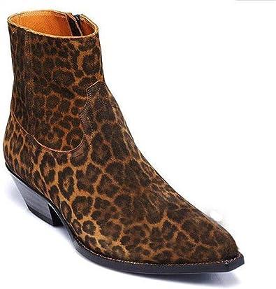 Nuevo Diseño De Botas De Vaquero De Leopardo Para Hombre
