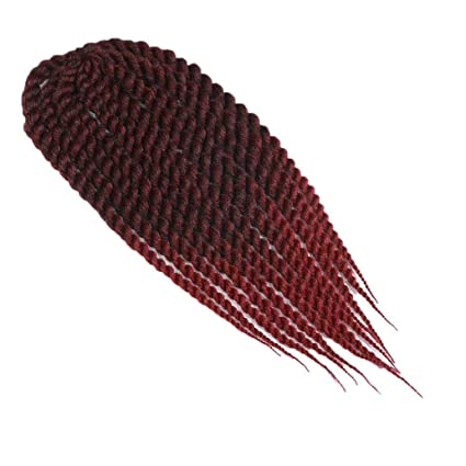 Extensión de fibra sintética de color degradado, pelo largo rizado ...