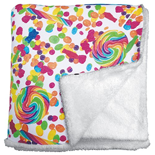"iscream 'Candy Collage' Soft 56"" x 60"" Sherpa Fleece Thro..."