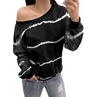 Blibea Womens V Neck Striped Chiffon Blouses Long Sleeve Button Down Shirts Top