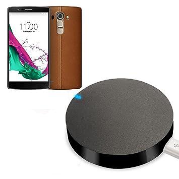 Sannysis® Cargador inalámbrico Qi carga Pad para LG G4 F500 H815 H815