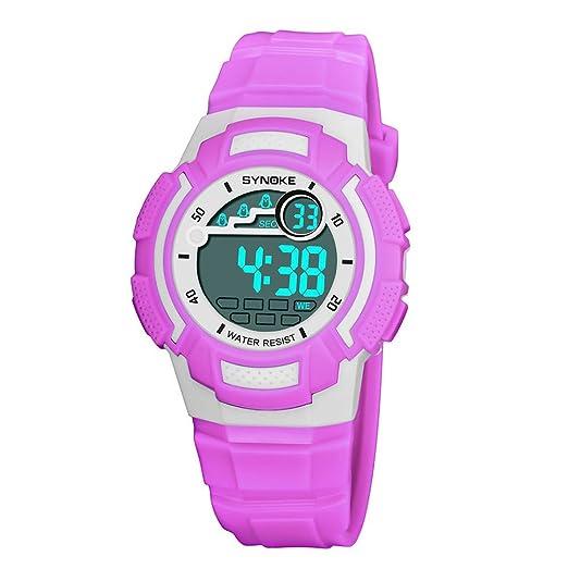 Reloj electrónico para niños SYNOKE 9782Relojes Pulsera Inteligente para niño cumpleaños con cámara Llamadas al Air