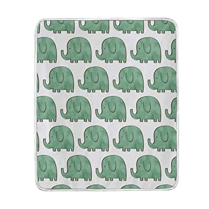 Amazon.com  Cute Elephants Pattern Throw Blanket for Bed Couch Chair ... baf4f36953