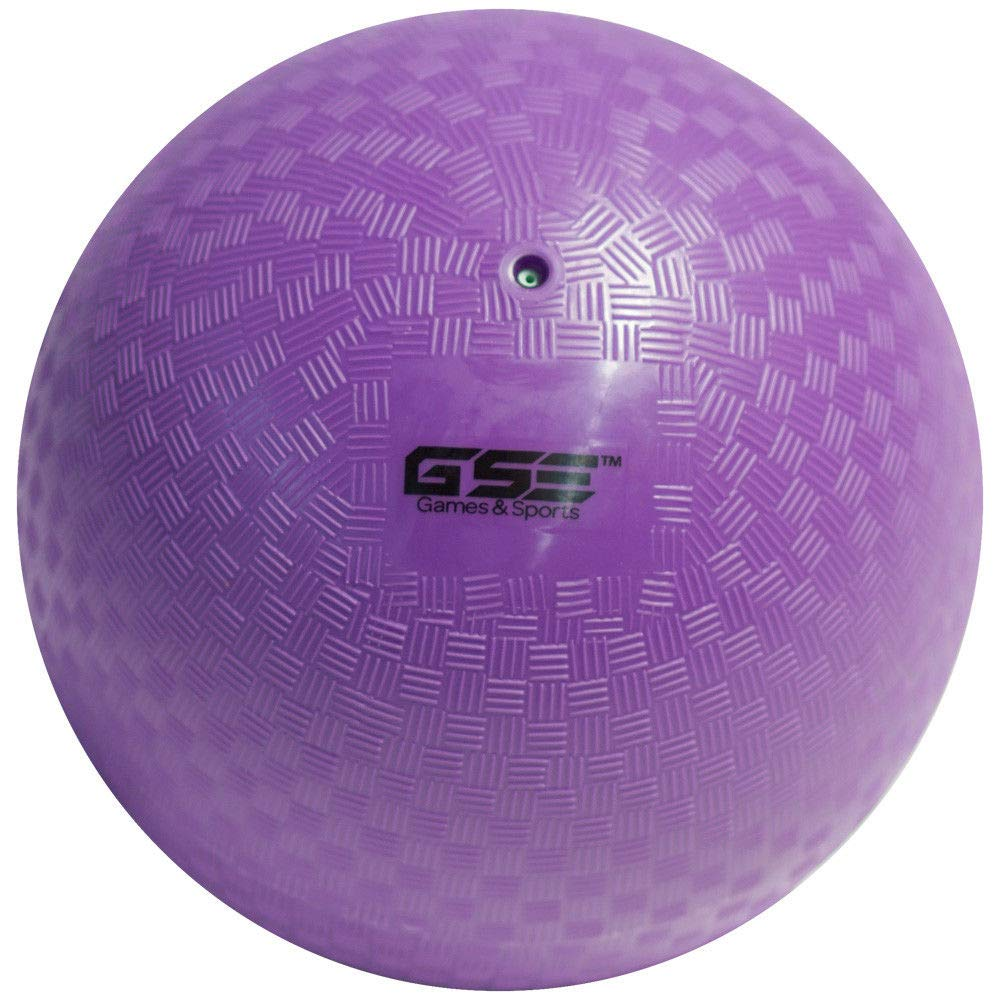 GSE Games & Sports Expert 8.5-inch Classic Inflatable Playground Balls (7 Colors Available) (Purple)
