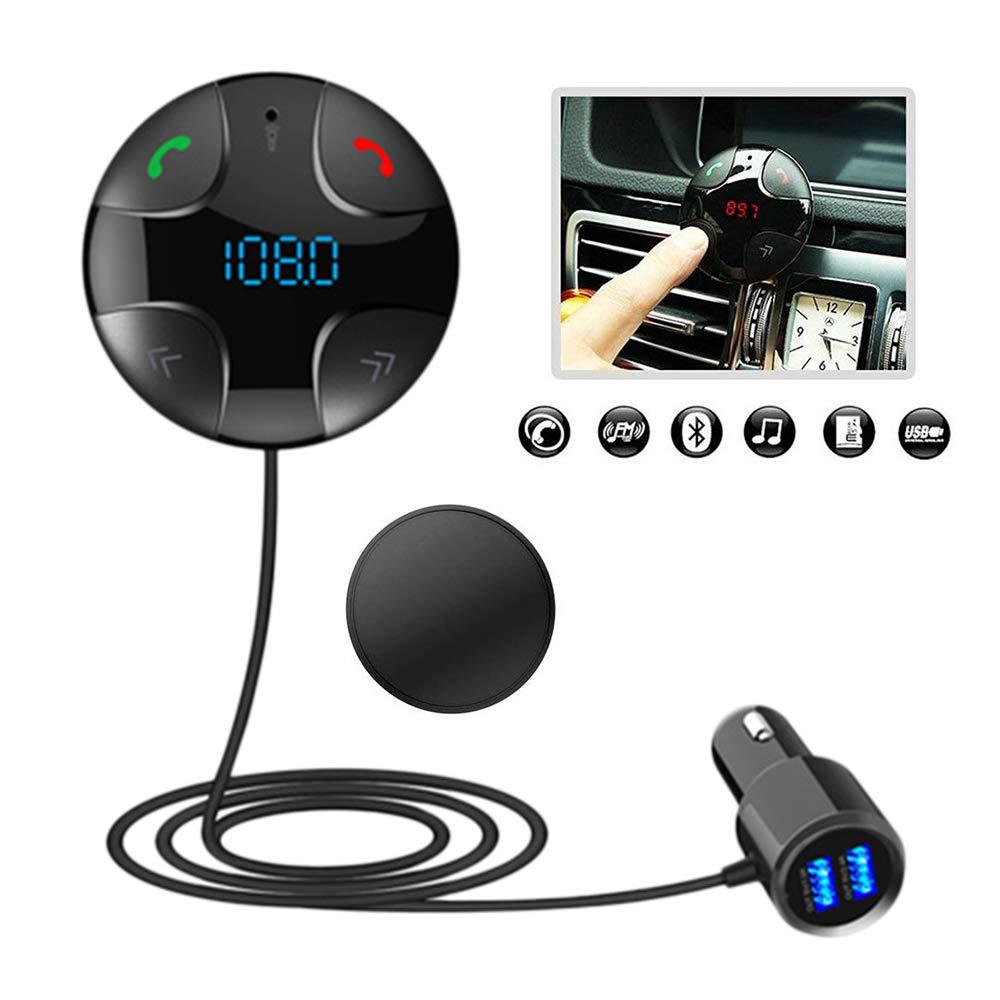 Transmetteur FM Bluetooth, Kit voiture mains libres sans fil Support magné tique Musique Ré cepteur Kit voiture mains libres sans fil Support magnétique Musique Récepteur iitrust D113-C-BLK