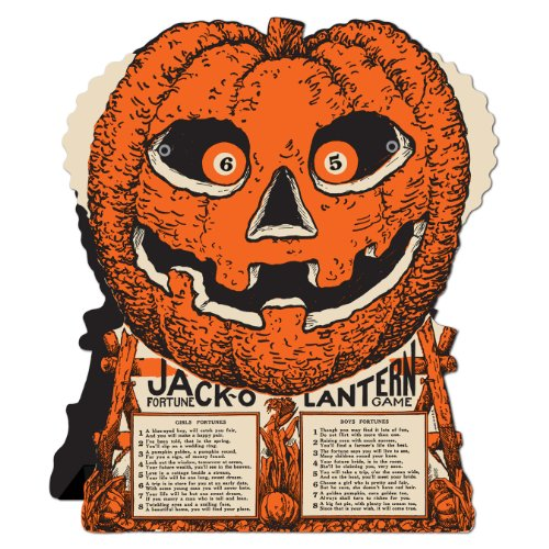 Beistle Jack-O-Lantern Fortune Wheel Game, 9-Inch by