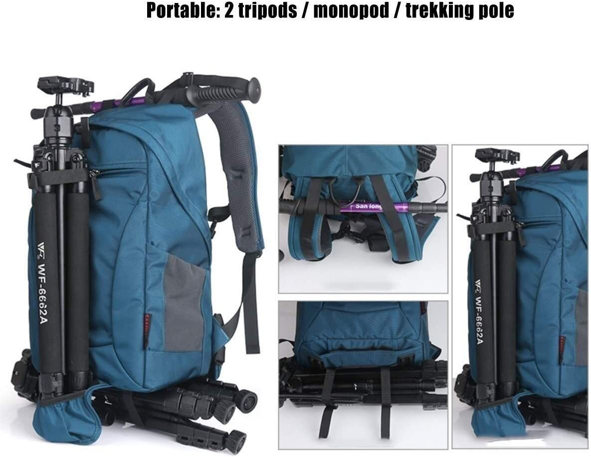 30 20 48cm Gray Handbag Travel Anti-Theft Backpack with Rain Cover for Sony Canon Nikon Camera Backpack Tripod Lens and Accessories Yaojun Carrier-Bag Knapsack Multi-Function Shockproof Camera Bag