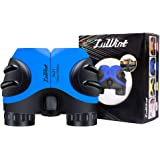 Luwint 8 X 21 Kids Binoculars for Bird Watching, Wildlife Nature Scenery, Game, Safari, Fishing, Mini Compact Image Stabilized (Blue)
