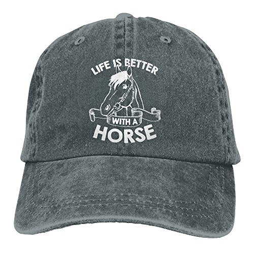 Life Is Better With A Horse-1 Vintage Jeans Baseball Cap For Men and Women (Adjustable Hat Womens Charlie)